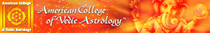 American College of Vedic Astrology Header Home