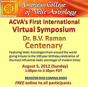 ACVA First International Virtual Symposium August 5th 2012