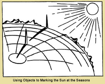Using  Objects to Marking the Sun at the Seasons