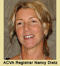 ACVA Online Registrar Nancy Dietz