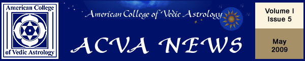 American College of Vedic Astrology May Newsletter