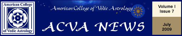 American College of Vedic Astrology July Newsletter